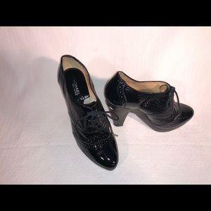 Black Patent Bootie - Michael Kors - Sized 8